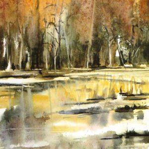 aquarelle représentant l'automne