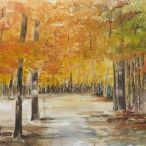 paysage chemin arbre automne