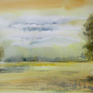 Aquarelle paysage Plénitude