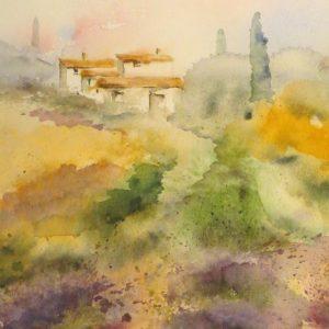 Aquarelle de Provence