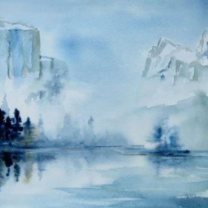 Aquarelle paysage Transparence
