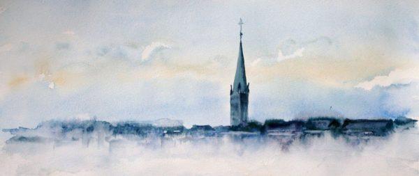 Bruxelles dans la brume