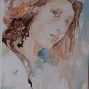 Peinture portrait femme