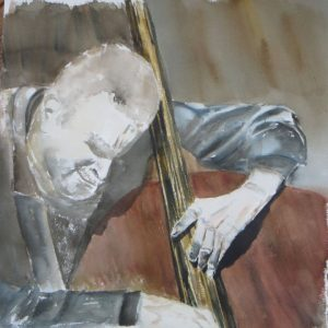 Aquarelle du portrait de Ray Brown